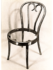 Cast Aluminum Bentwood Chair